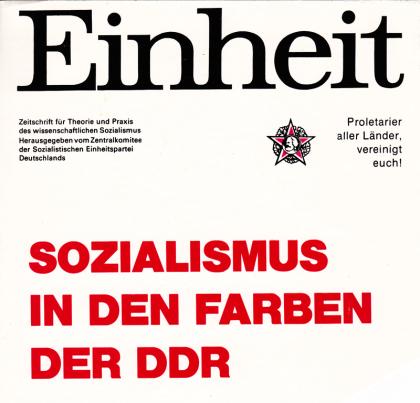 Sozialismus in den Farben der DDR