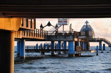 Seebrücke von unten